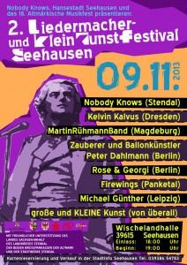 Zweites Liedermacher- und KleinKunstFestival